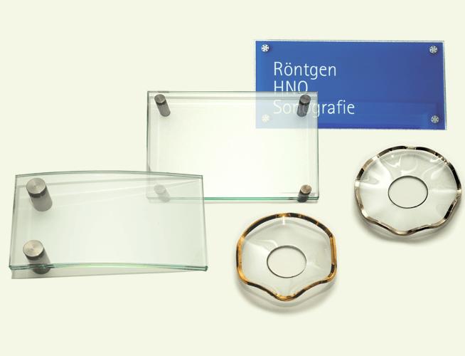 Glas nach speziellen Kundenwünschen